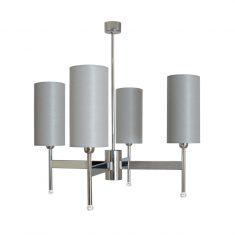Żyrandol Galena Silver 4L 60x62cm