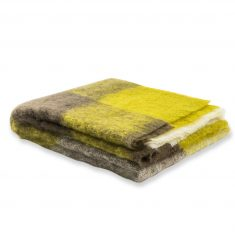 Koc moherowy Yellow Rossi Play Marzotto 130x180cm