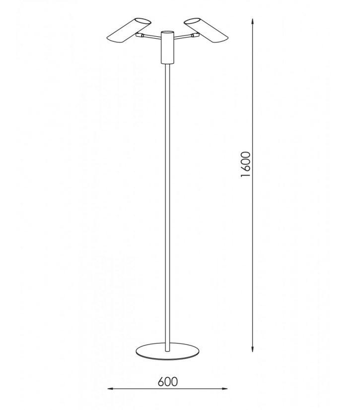Lampa podłogowa Black 3L, 60x160cm bbhome