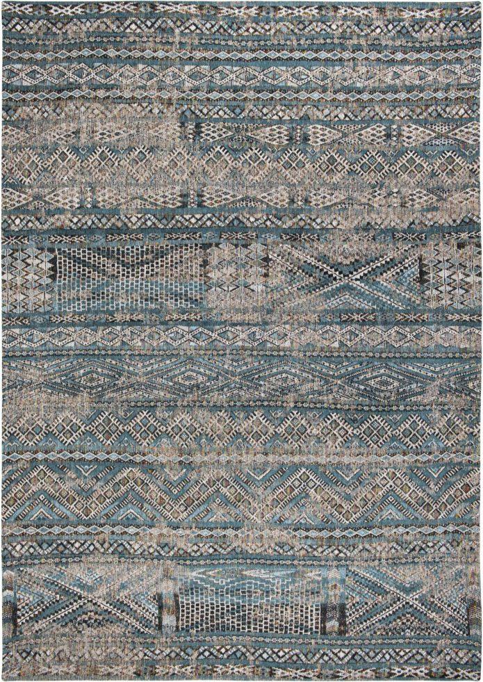 Wielokolorowy Kilimowy Dywan - ZEMMURI BLUE 9110 Louis De Poortere