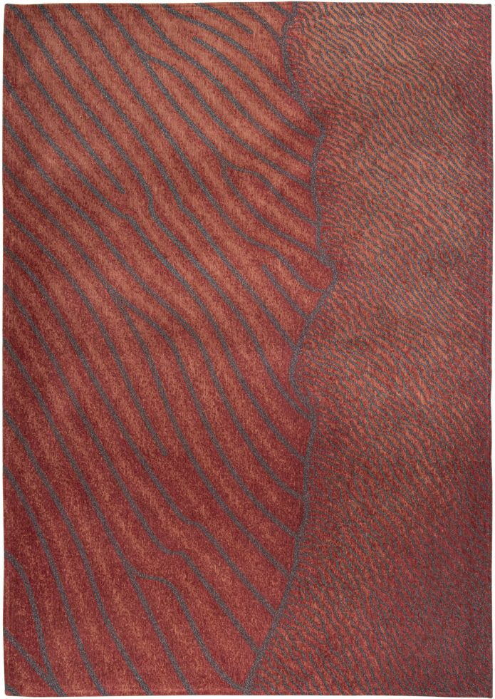 Nowoczesny Czerwony Dywan - ORINICO FLOW 9134 Louis De Poortere