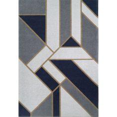 Dywan geometryczny Gatsby Dark Blue Carpet Decor