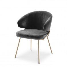Krzesło Kinley Savona Dark Grey Eichholtz 60x64x81cm