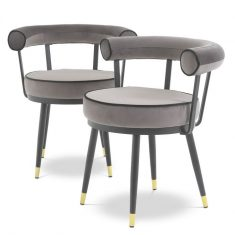 A set of chairs Vico Savona Gray Eichholtz 2 pcs.