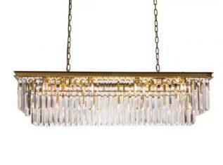 Żyrandol kryształowy Odeon Gold AD 125×36x40cm