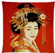 Poduszka żakardowa Geisha Red FS Home Collections 45x45cm