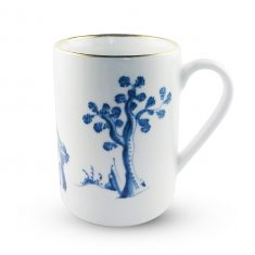 Kubek porcelanowy Para i Kwiat Majolika Nieborów 250ml