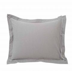 Poszewka na poduszkę Percale Gray/White Lexington