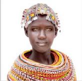 Poduszka żakardowa Samburu Girl off White FS Home Collections 45x45cm