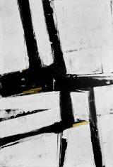 Obraz abstrakcyjny BWG I 110x160cm