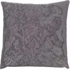 Poduszka żakardowa Fiorantello Charcoal Grey FS Home Collections 55x55cm
