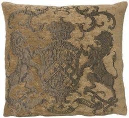 Poduszka żakardowa Fiorantello Taupe&Gold FS Home Collections bbhome