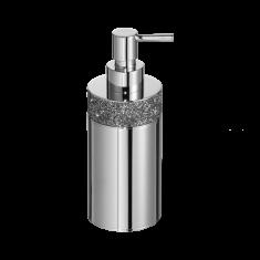 Dozownik na mydło Rocks Chrome Decor Walther 7,5 x 6,5×17,5cm