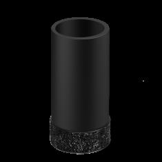 Kubek łazienkowy Rocks Black Decor Walther 6,5×12,5cm