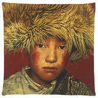 Poduszka żakardowa Tibetan Boy Terra FS Home Collections 45x45cm