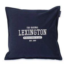 Poduszka dekoracyjna Logo Cotton Dark Blue Lexington bbhome