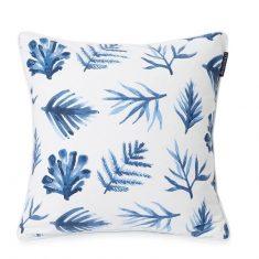 Poduszka dekoracyjna Blue Printed Leaves Lexington 50x50cm