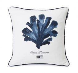 Poduszka dekoracyjna Ocean Treasures White/Blue Lexington 50x50cm
