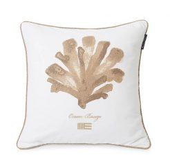 Poduszka dekoracyjna Ocean Treasures White/Beige Lexington 50x50cm