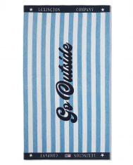 Ręcznik plażowy Velour Blue / White Graphic Cotton Lexington 100x180cm