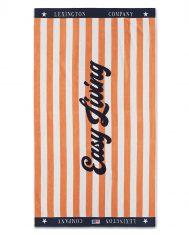 Ręcznik plażowy Velour Peach / White Graphic Cotton Lexington 100x180cm