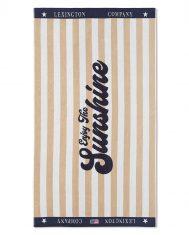 Ręcznik plażowy Velour Beige / White Graphic Cotton Lexington 100x180cm
