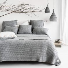Narzuta Wełniany Splot Grey MOYHA 240x220cm