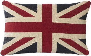 Poduszka dekoracyjna Union Jack Chenille FS Home Collections 45x65cm