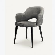 Krzesło tapicerowane Cosy Velvet Black Pols Potten
