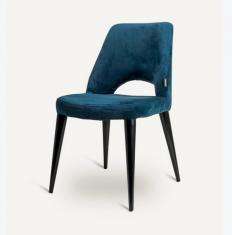 Krzesło tapicerowane Holy Velvet Black Legs Pols Potten bbhome