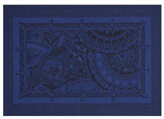 Podkładka pod talerz China Blue Porcelaine Jacquard Français 50x36cm