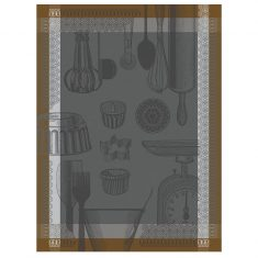 Ręcznik kuchenny Ustensiles Equinox Pâtissier Jacquard Français 60x80cm