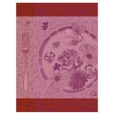 Ręcznik kuchenny Fleurs à croquer Flower Jacquard Français 60x80cm