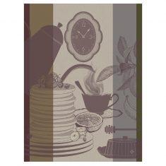 Ręcznik kuchenny Café Taupe Instants Gourmands Jacquard Français 60x80cm