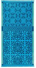 Ręcznik plażowy Santorin Turquoise Jacquard Français 100x200cm