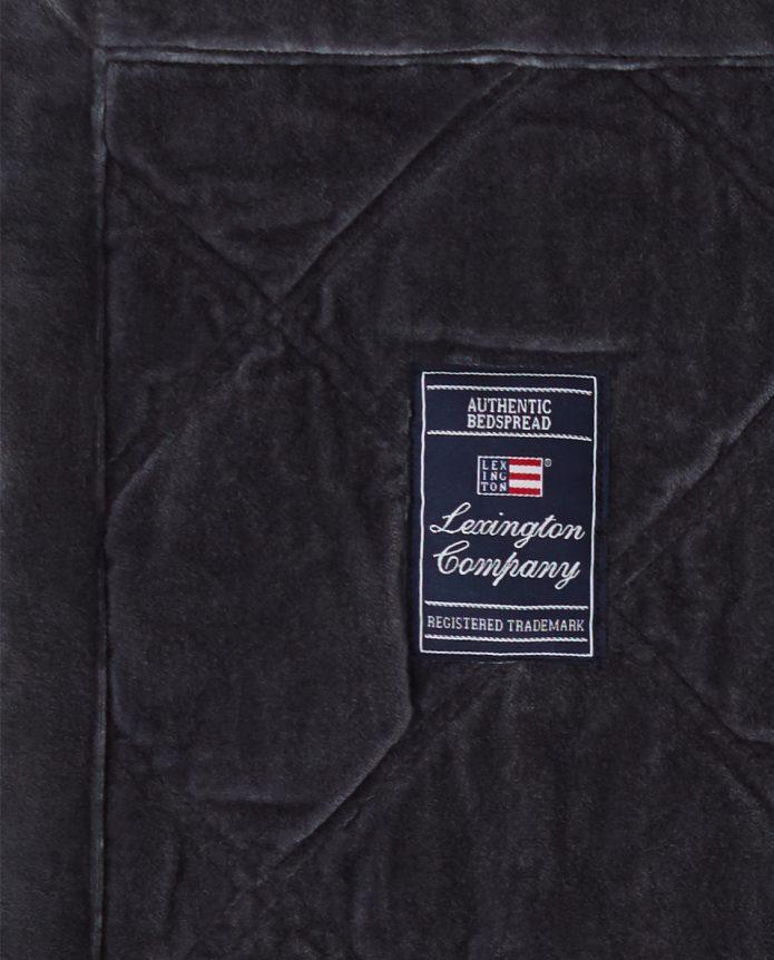Narzuta Quilted Cotton Bedspread Black Lexington bbhome