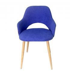 Krzesło z podłokietnikami Costa Blue 42x43x76cm – z ekspozycji