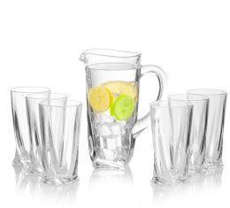 Zestaw kryształowy Ceasar Bohemia dzbanek+6 szklanek Bohemia bbhome