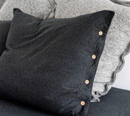 Poszewka na poduszkę Antracytowy Melange Senne Marzenie MOYHA