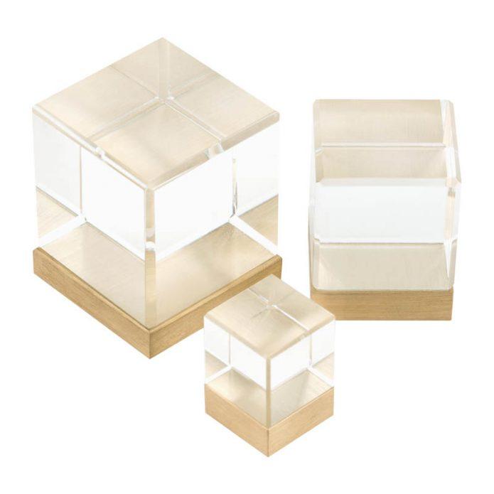 Gałka meblowa Glass Cube Pap Deco bbhome