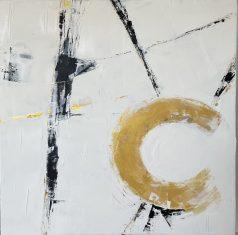 Obraz abstrakcyjny COMPASS 110x110cm