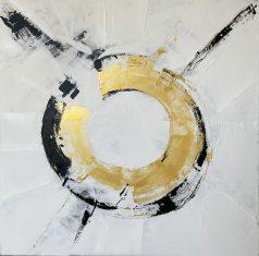 Obraz abstrakcyjny GOLDEN EYE 110x110cm