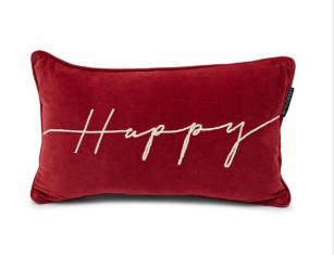 Poduszka welurowa Happy Red Lexington bbhome