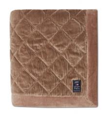Narzuta Quilted Mid Brown Cotton Velvet Bedspread Lexington 160x240cm