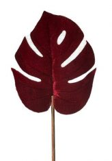 Liść Monstera Leaf Velvet Red BBHome 66cm