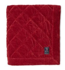 Narzuta Quilted Red Cotton Velvet Bedspread Lexington bbhome