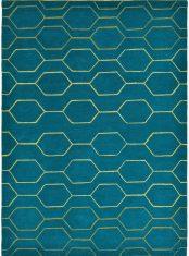 Dywan geometryczny Arris Teal Carpet Decor bbhome