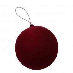 Bombka Ball Burgundy Velvet BBHome 10cm