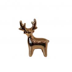 Figurka Golden Reindeer  BBHome 5,5x7cm