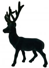 Figurka dekoracyjna Reindeer Velvet Green BBHome 22x32cm